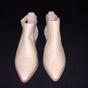Sole Society Sz 7 Lanette Cream Bootie
